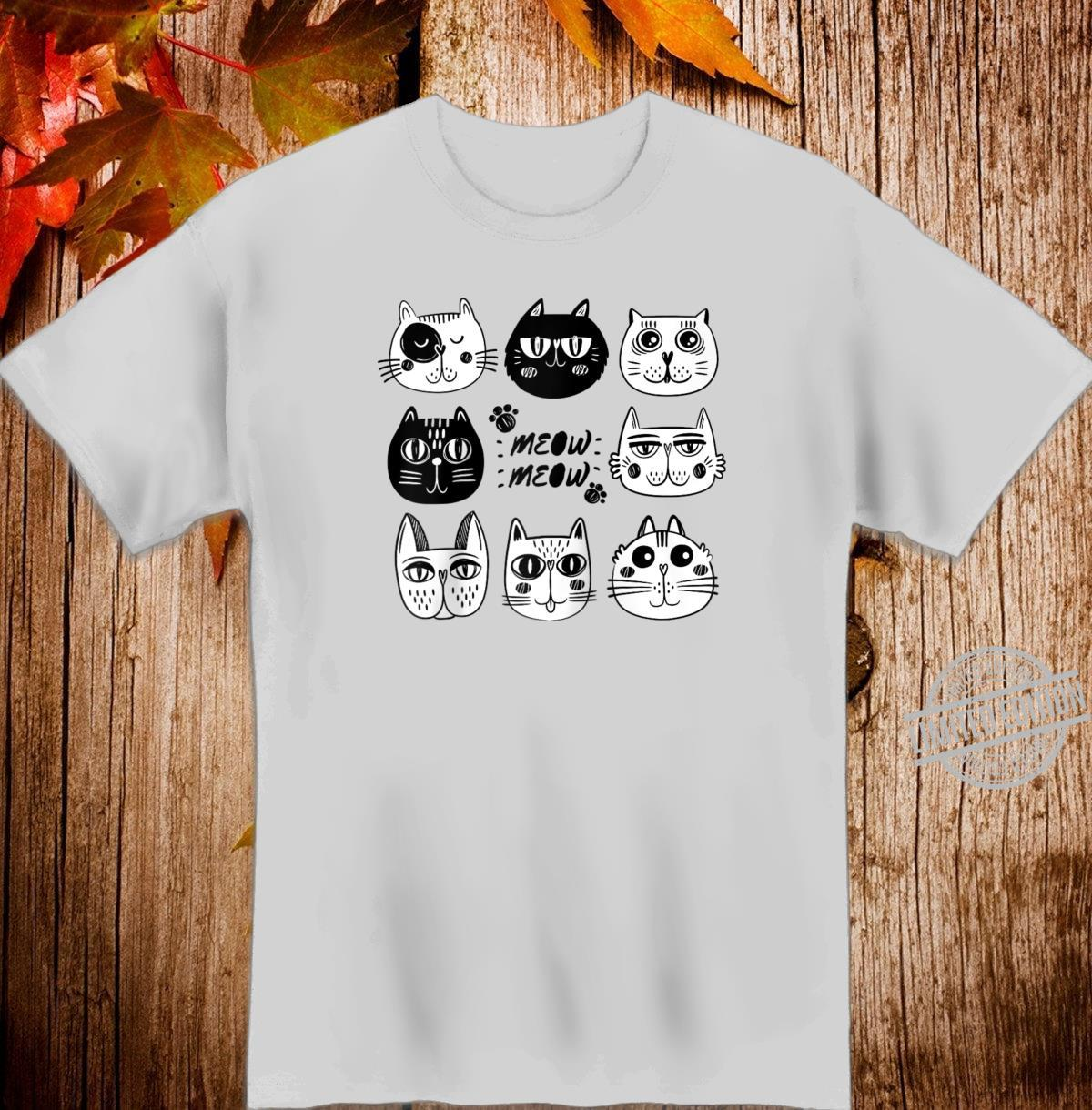 Funny Cats Faces Cute Kittens Shirt