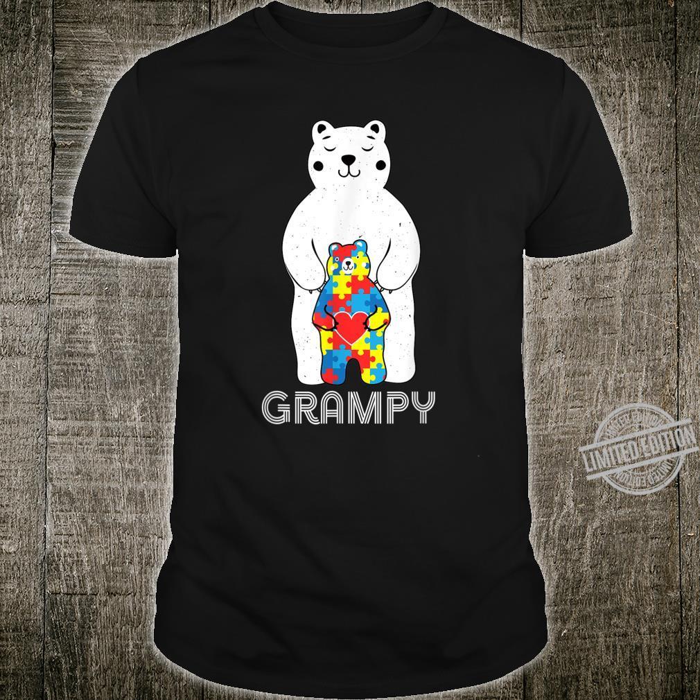 Grampy Bear Autism Awareness Shirt
