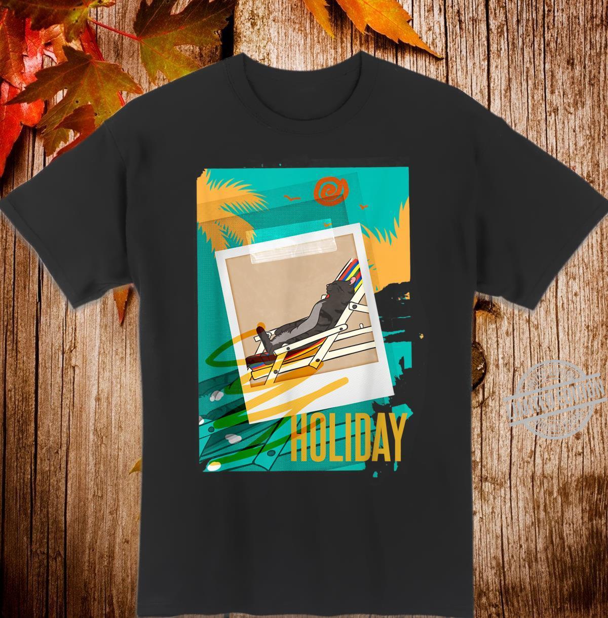Holiday Vacation Chilling Cat Shirt