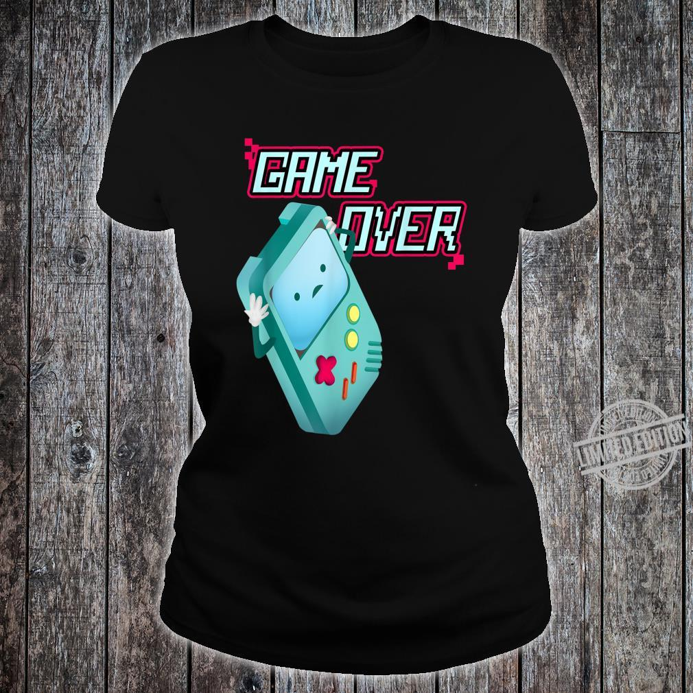 Kawaii 8Bit Game Over Video Games Handheld Console Costume Shirt ladies tee