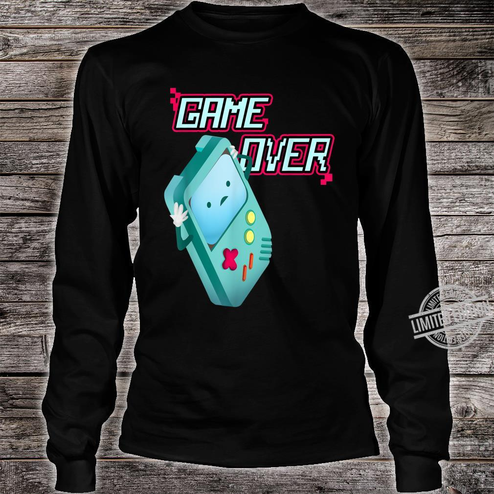 Kawaii 8Bit Game Over Video Games Handheld Console Costume Shirt long sleeved