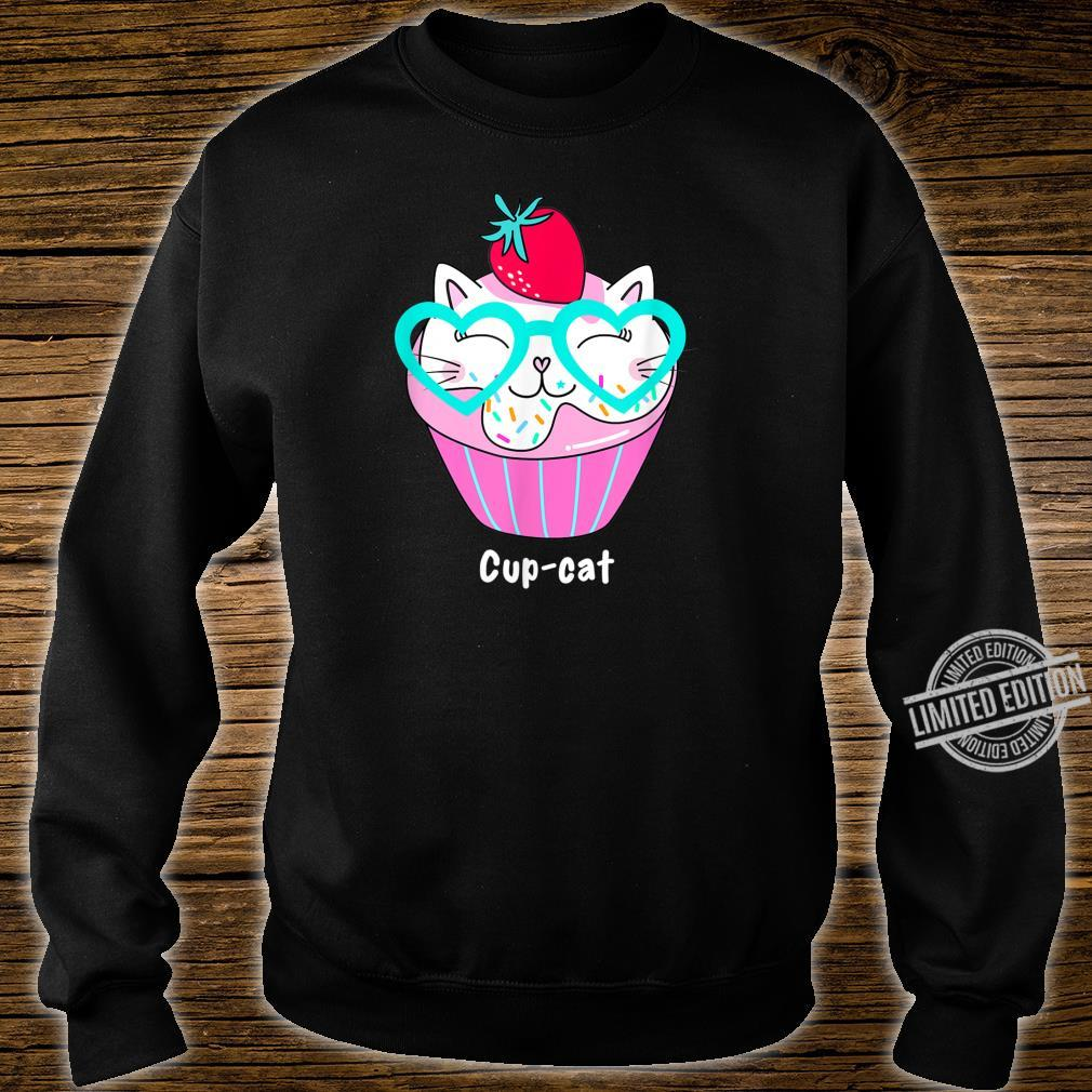 Kawaii CupCat Süße Anime Cupcake Kitty Cat Shirt sweater