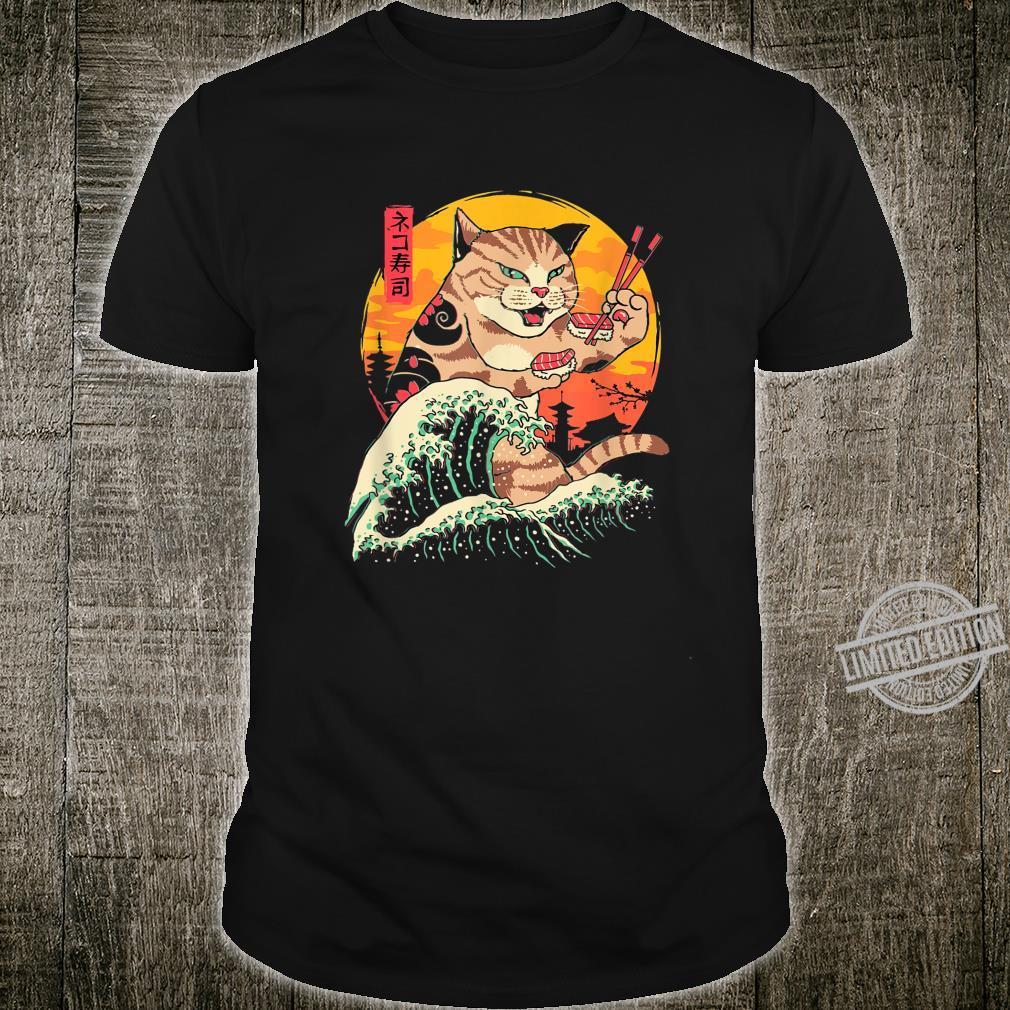 Kawaii Katze Sushi lustiges Katzenbesitzer Geschenkidee Shirt