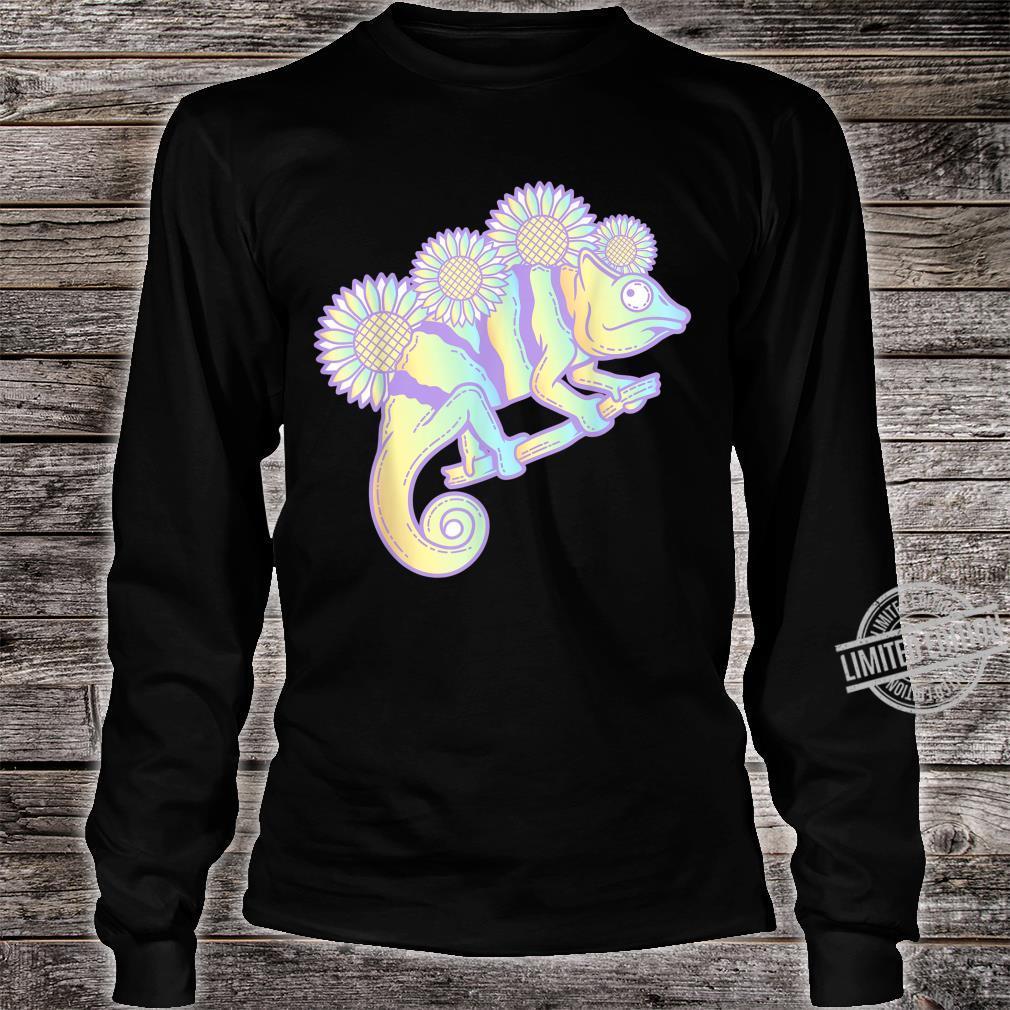 Kawaii Panther Chameleon Pastel Colour Camouflage Shirt long sleeved