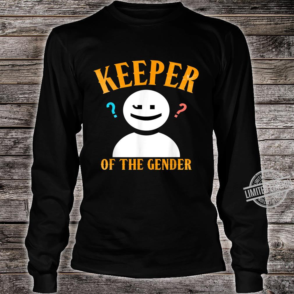 Keeper of the Gender Shirt Reveal Party for Dad & Mom Shirt long sleeved