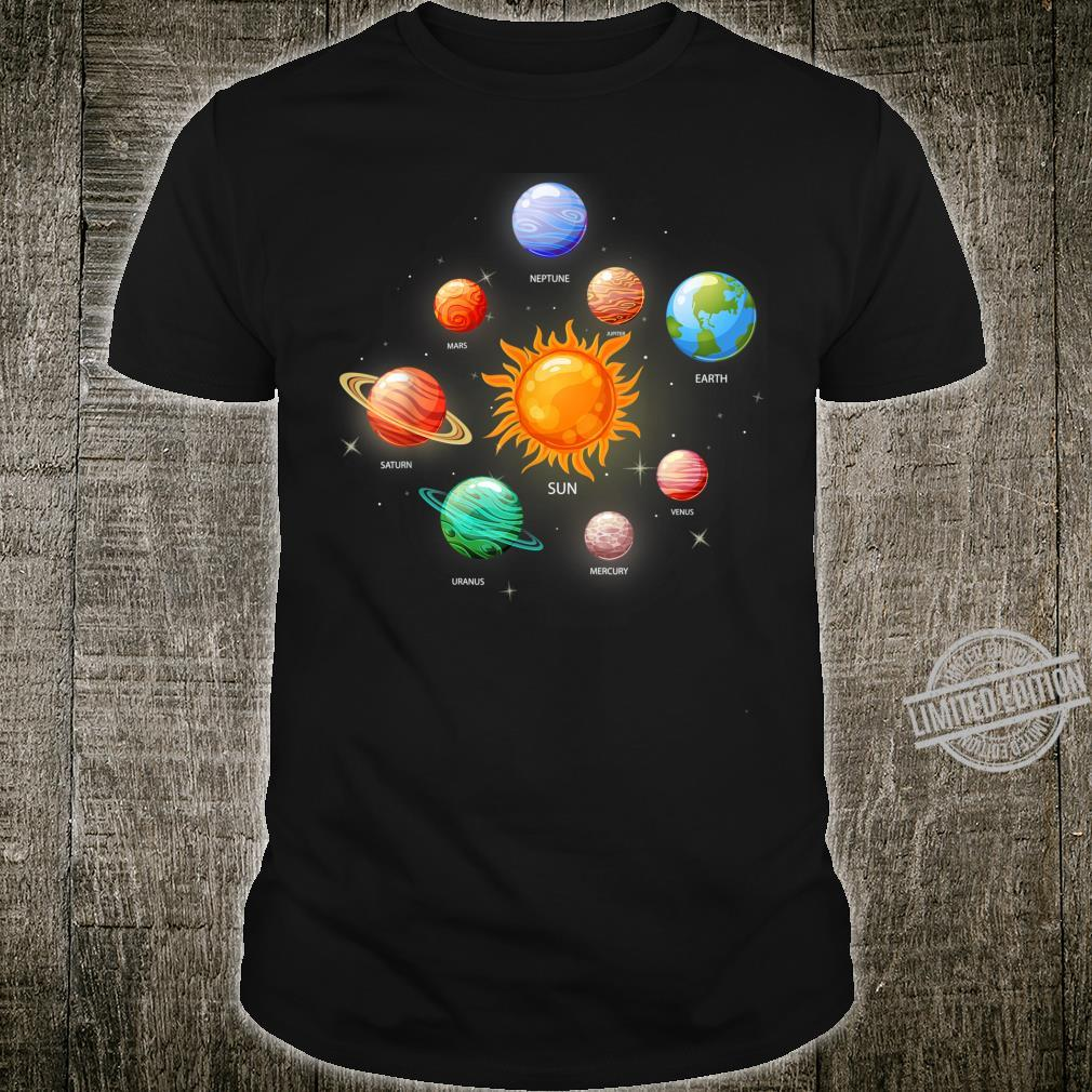 Kids Solar System Planets Sun Space & Science Shirt