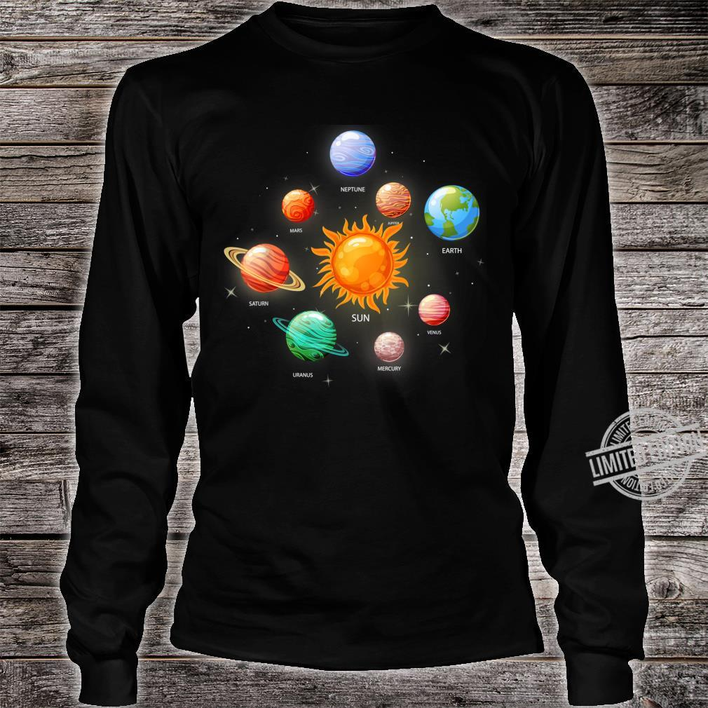 Kids Solar System Planets Sun Space & Science Shirt long sleeved