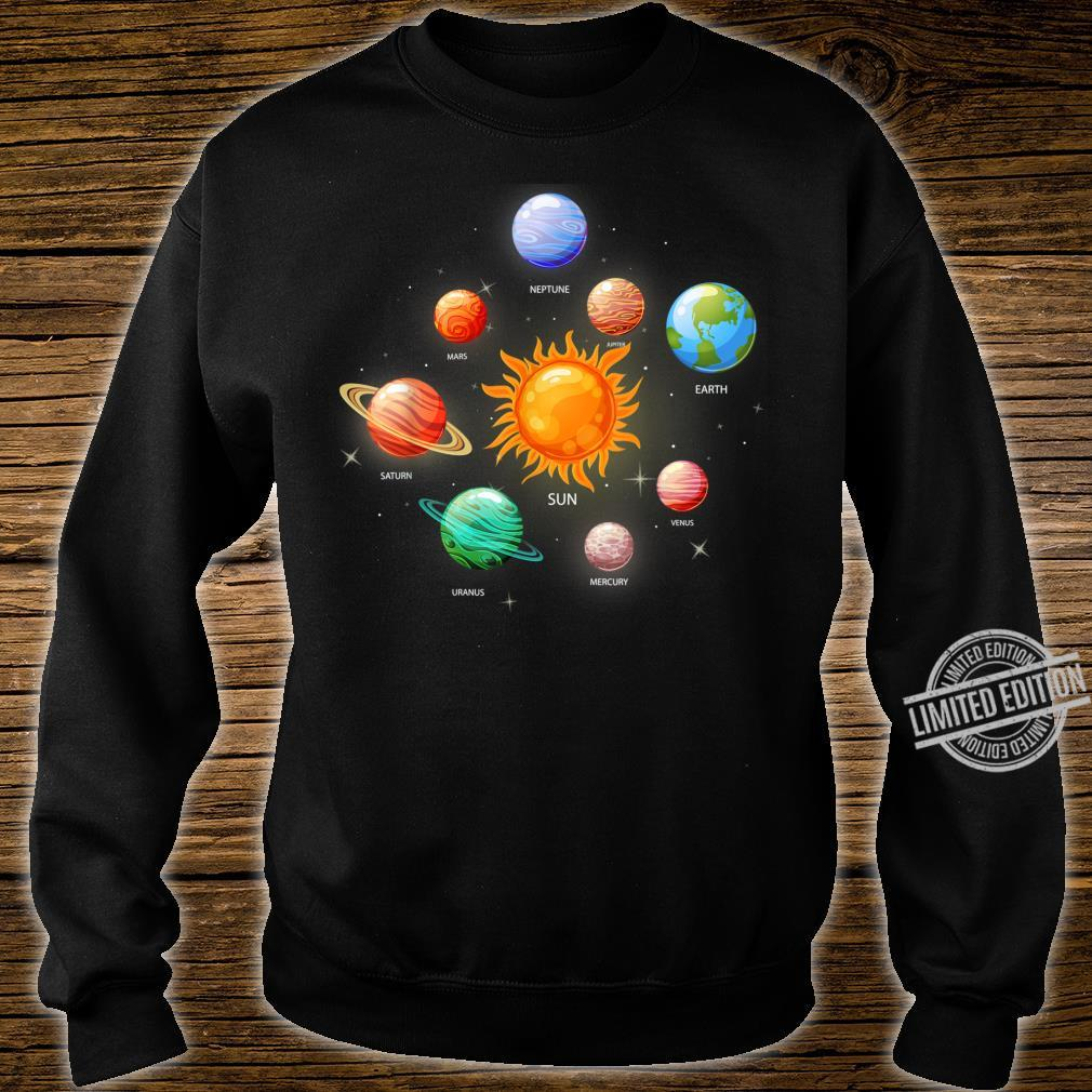 Kids Solar System Planets Sun Space & Science Shirt sweater
