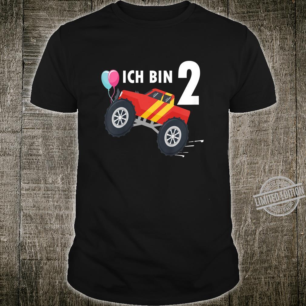 Kinder 2 jahre Junge Mädchen Geburtstag Shirt Monster Truck Shirt