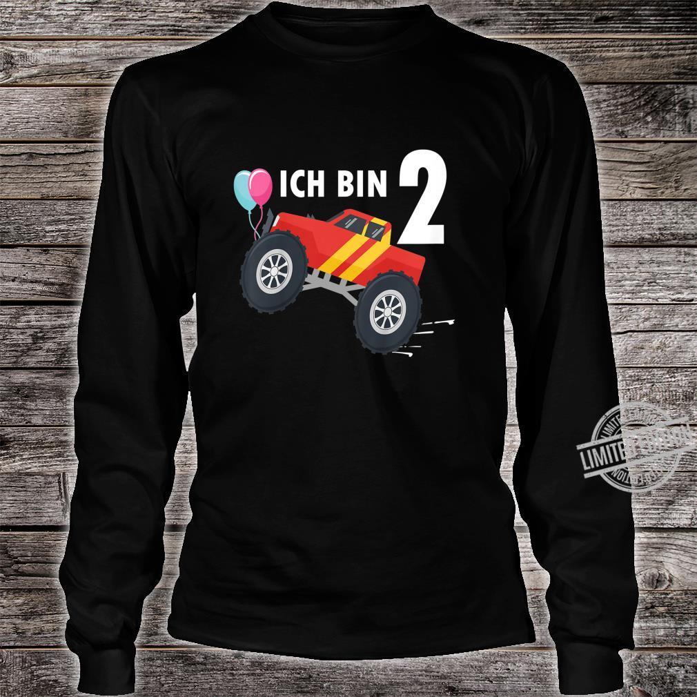 Kinder 2 jahre Junge Mädchen Geburtstag Shirt Monster Truck Shirt long sleeved
