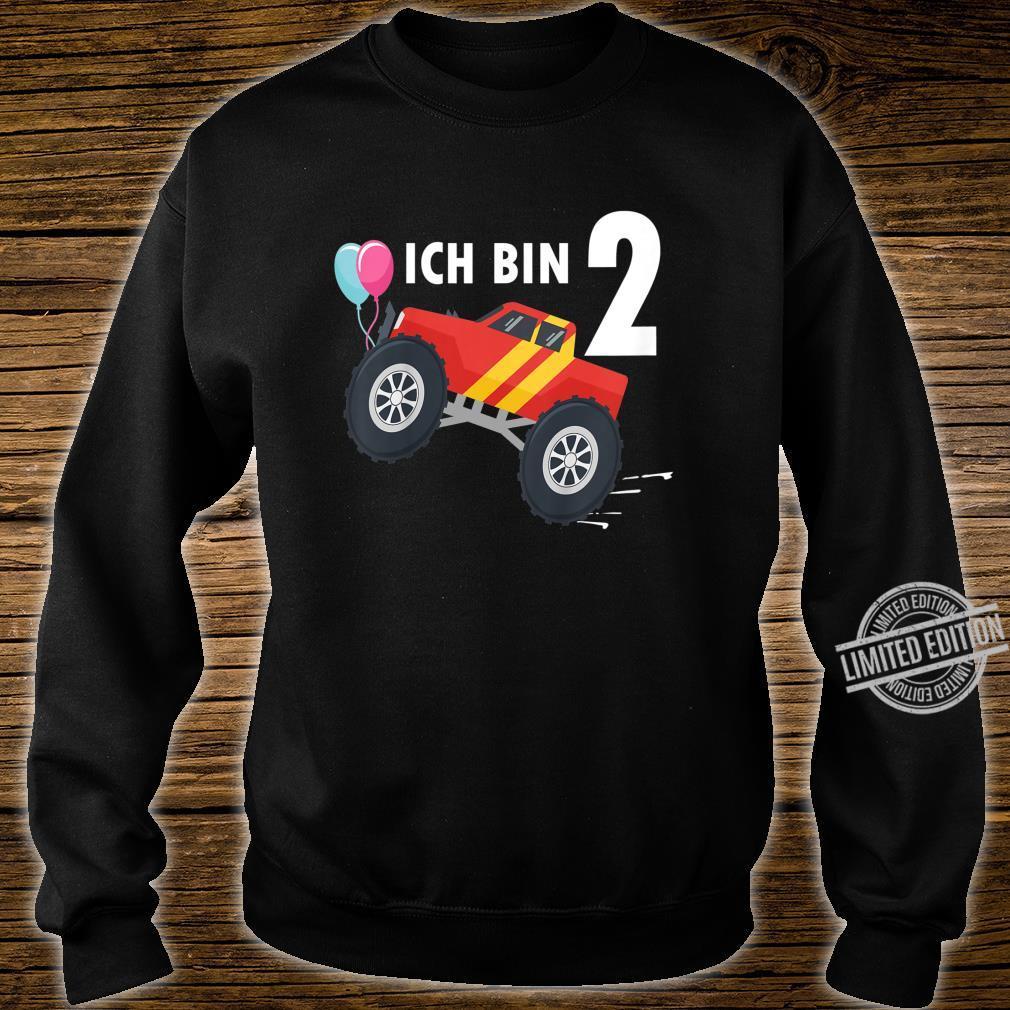 Kinder 2 jahre Junge Mädchen Geburtstag Shirt Monster Truck Shirt sweater