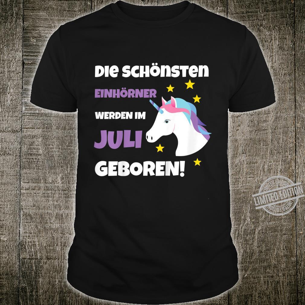 Kinder Einhorn werden im Juli Geboren Geschenkidee Shirt