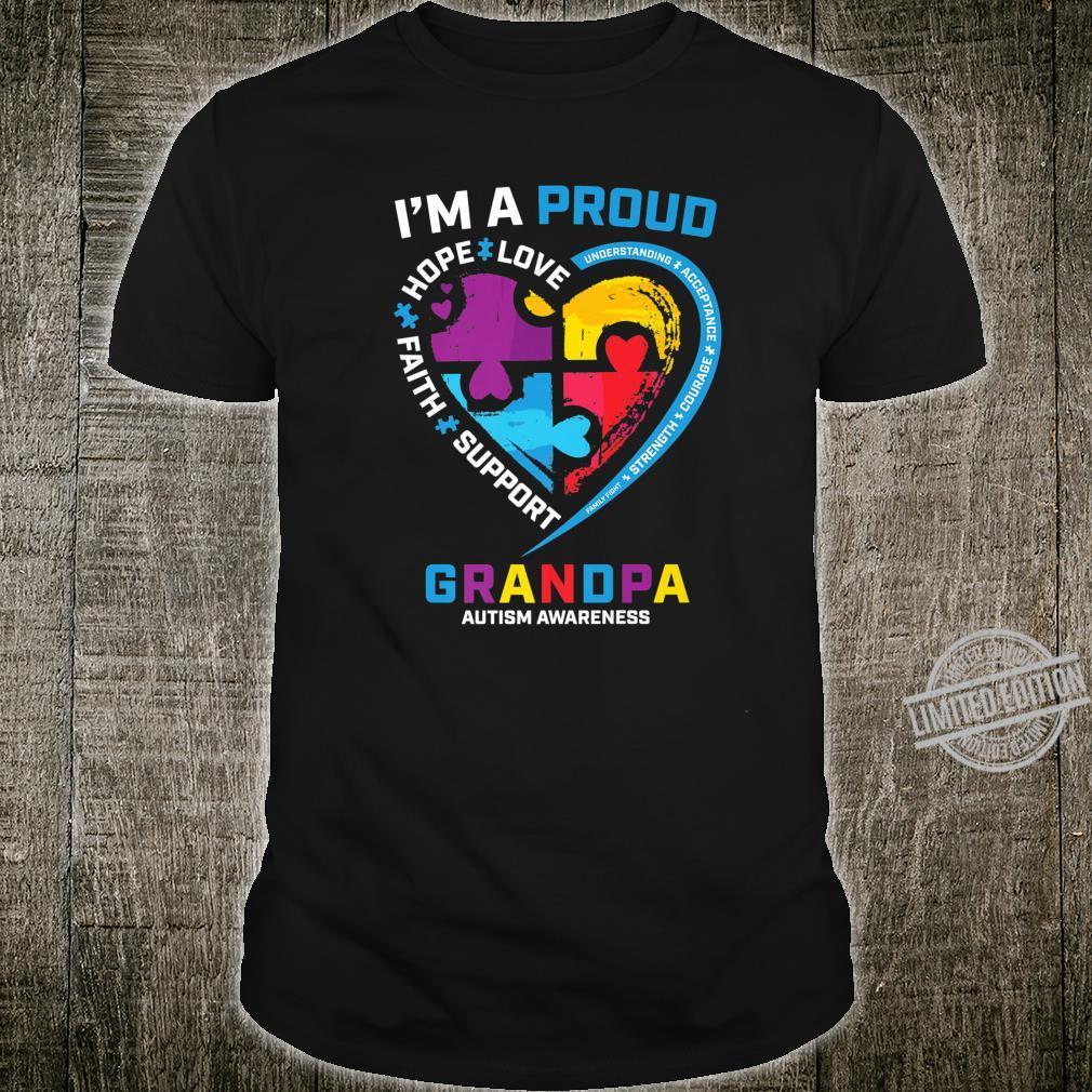 Mens I'm a Proud Grandpa Autism Awareness Grandson Granddaughter Shirt