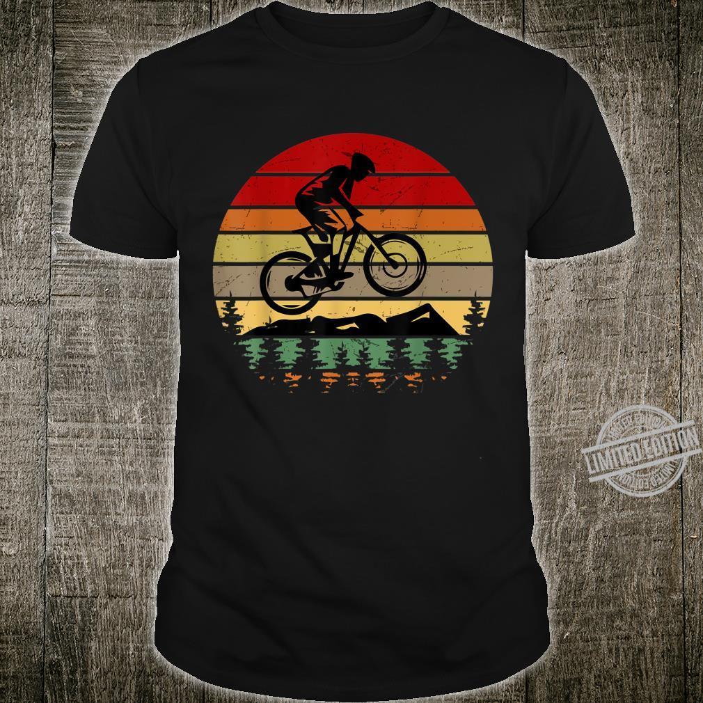Vintage Sunset Mountain Biking For Mountain Bikers Shirt