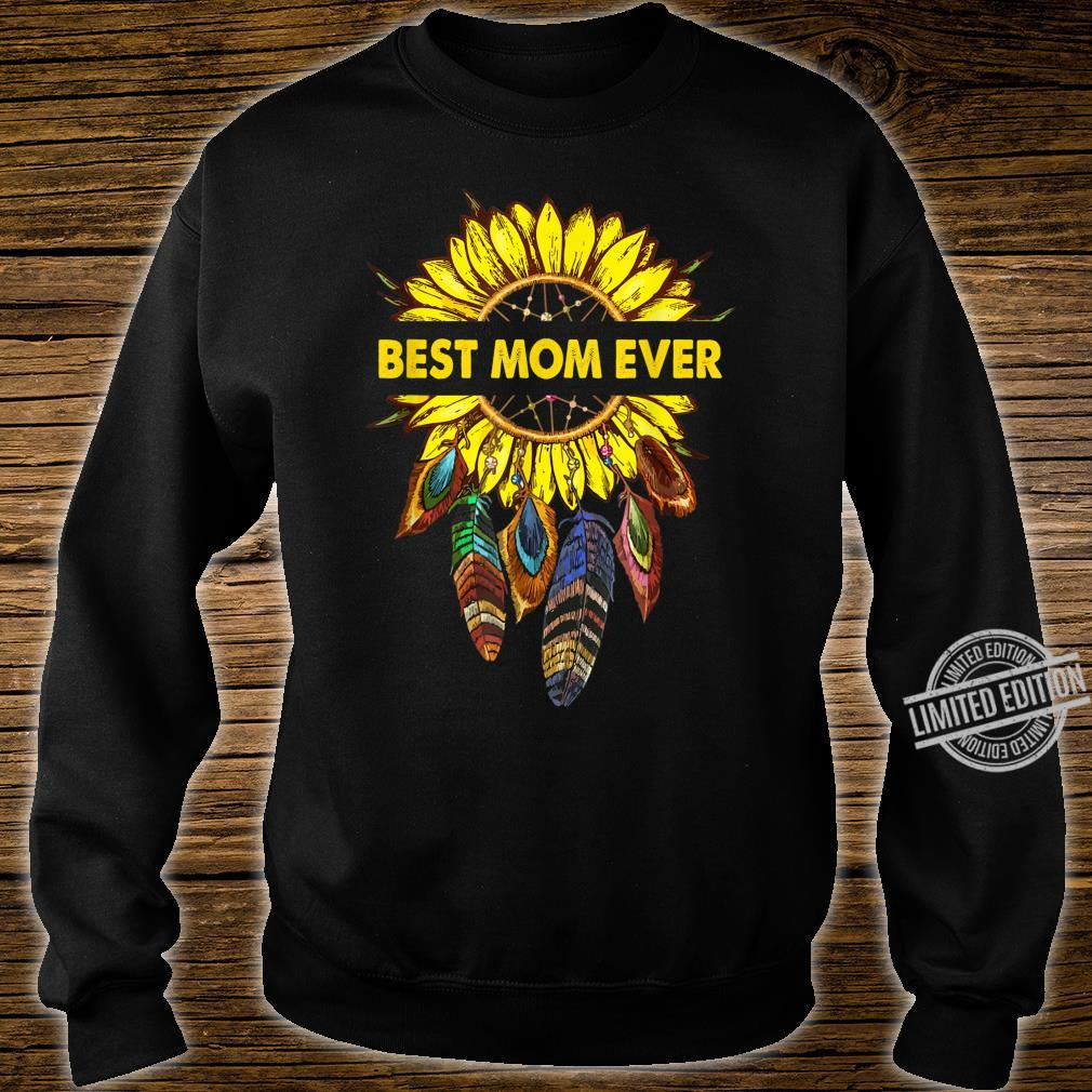 Womens Happy Mother's Day Best Mom Ever Sunflower Shirt sweater