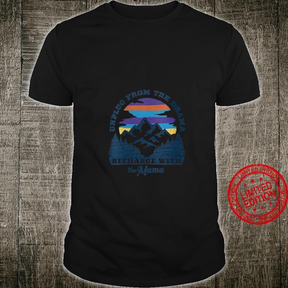 Womens Mother Nature Retro Style Outdoors, Camping Shirt