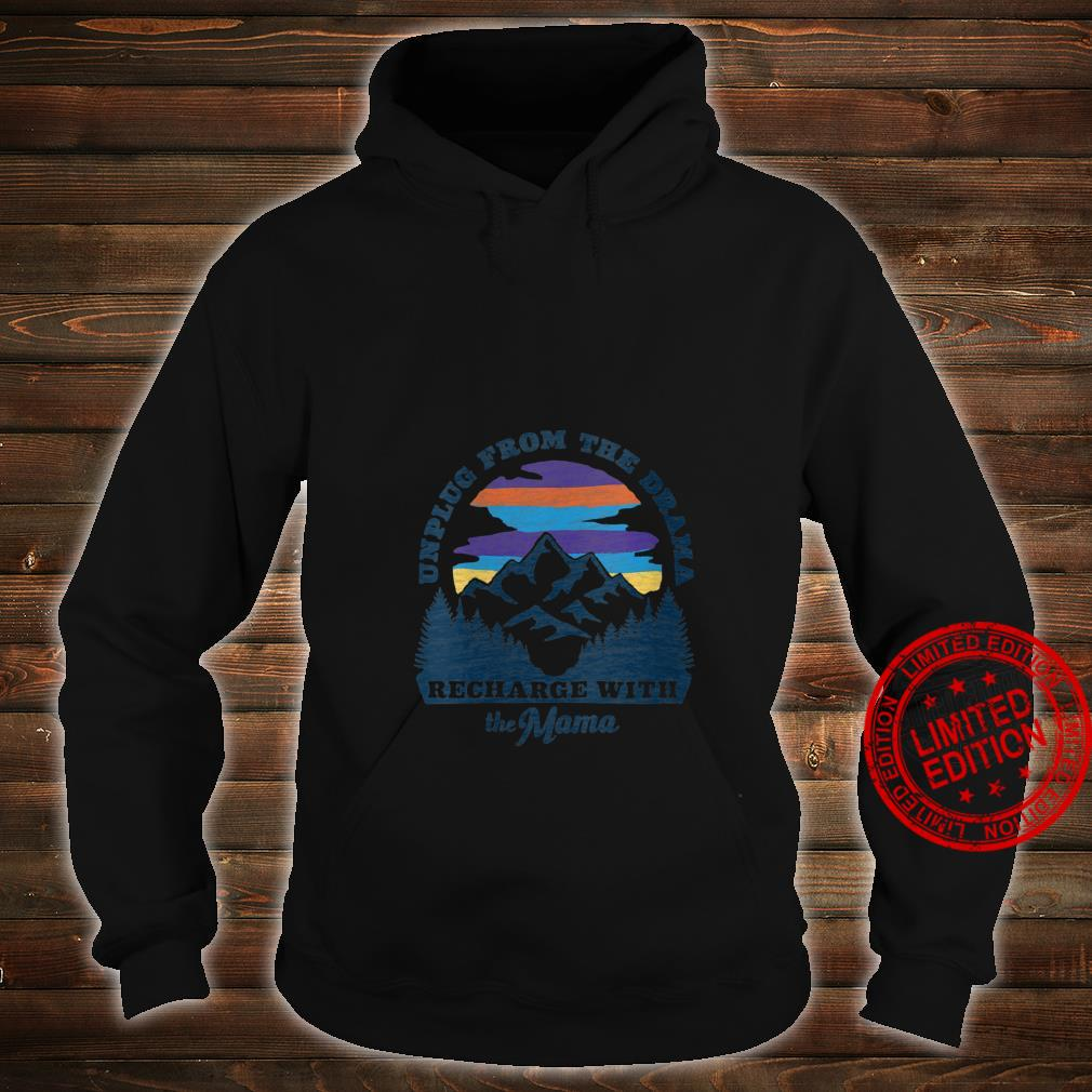 Womens Mother Nature Retro Style Outdoors, Camping Shirt hoodie