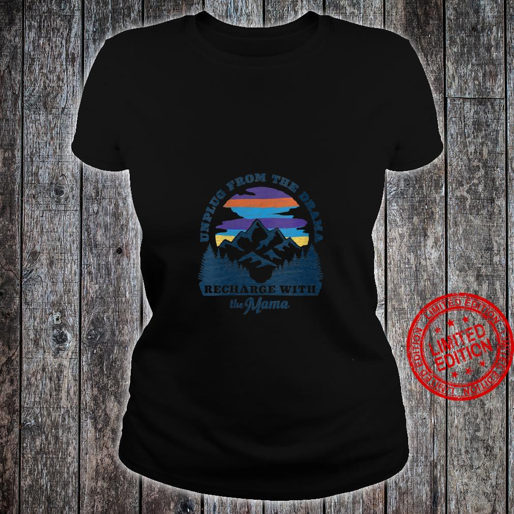Womens Mother Nature Retro Style Outdoors, Camping Shirt ladies tee