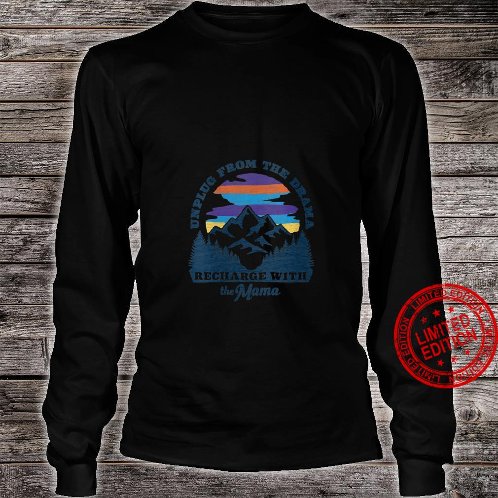 Womens Mother Nature Retro Style Outdoors, Camping Shirt long sleeved