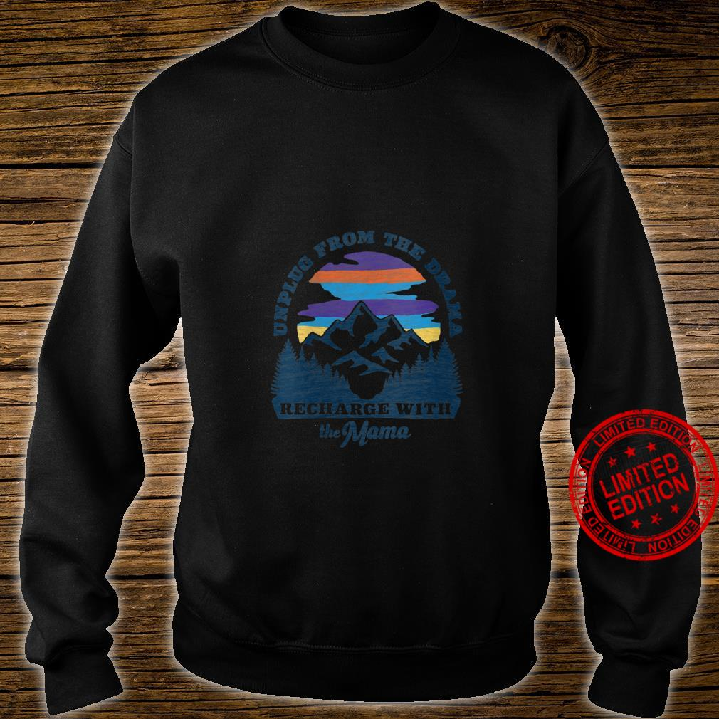 Womens Mother Nature Retro Style Outdoors, Camping Shirt sweater
